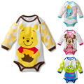 Baby Boys Girls Rompers Summer Newborn Baby Clothes Cartoon Infant Jumpsuits Long Sleeve Baby Girl Clothing Sets Roupas Bebes