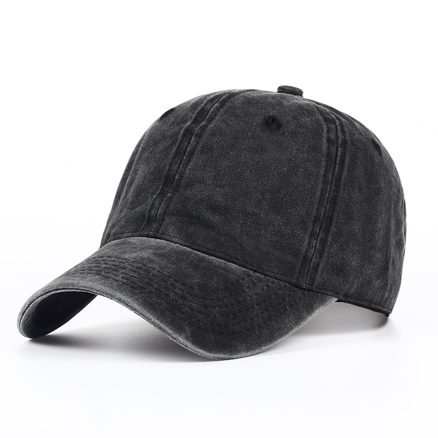 2a30d996a9a VORON Plain dyed sand washed 100% soft cotton cap blank baseball caps dad  hat no
