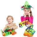 32 unids mini ladrillos enlighten educativos magnética juguete de diseño cuadrado triángulo diy bloques de construcción de juguetes para los niños