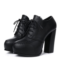Hot sale height plarform  high heels round toe women ankles boots zapatos de mujer high heels platform lace up women boots shoes cyabmoz women high heels platform shoes wedge genuine leather height increasing lace up low top party ladies shoes zapatos mujer