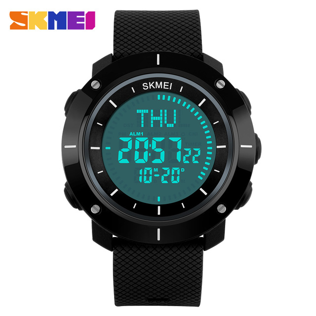 SKMEI 1216 Men Sport Watch Compass Multiple Time Zone Alarm Clock Chronograph Digital Watches Outdoor Military Wristwatches