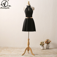 2018 Vintage A Line Homecoming Dress Elegent Dress Simple Style Above Knee Length Mini Dresses With