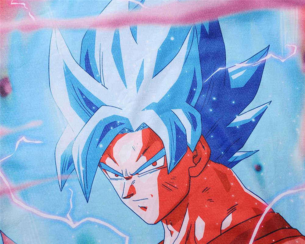 Летняя новая футболка с 3D принтом из мультфильма Dragon Ball Son Goku Молодежная мужская рубашка косплей аниме костюм унисекс аниме