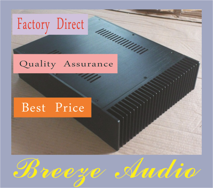 Breeze Audio-A09 Full Aluminum Enclosure / mini AMP case/power amplifier box/ chassis nobsound hi end audio noise power filter ac line conditioner power purifier universal sockets full aluminum chassis