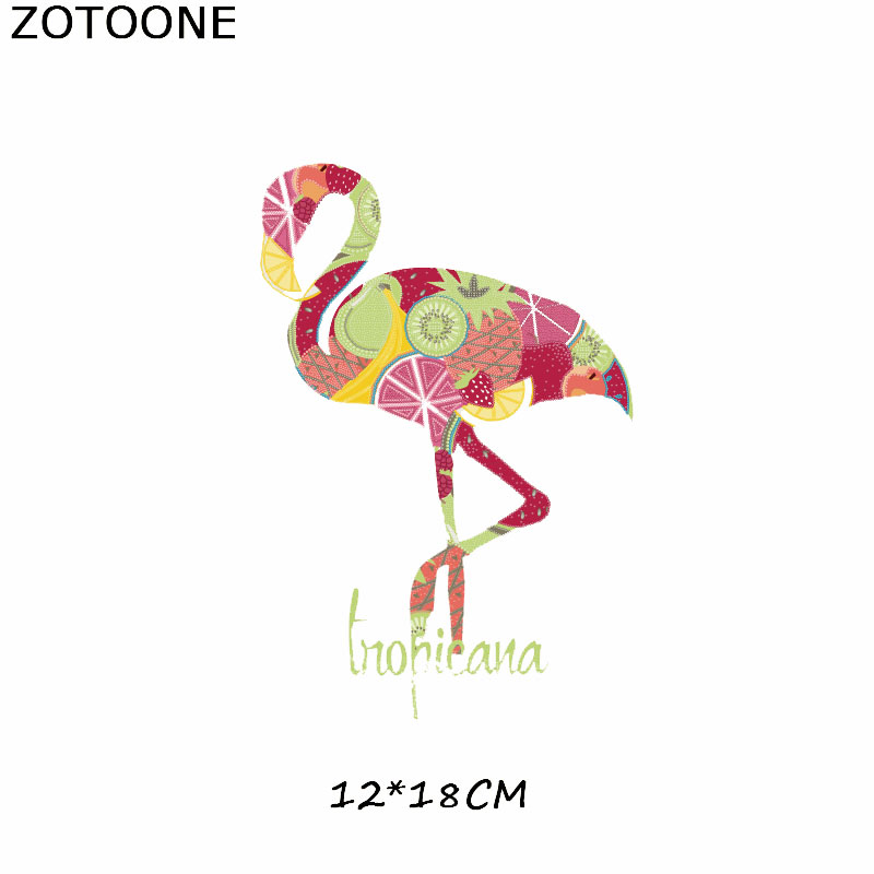 Patches Unicorn Flamingos Patch Iron On Transfer Flower Easy Print By Household Irons Parches Ropa T Shirt Diy Decoration C in Patches from Home Garden
