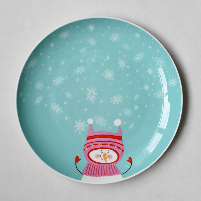 Dishes u0026 Plates Christmas cartoon hand painted porcelain plate steak Fruit dish New Year gift Ceramic plate tableware CP 044C-in Dishes u0026 Plates from Home ... & Dishes u0026 Plates Christmas cartoon hand painted porcelain plate steak ...