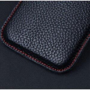 Image 5 - Pochette de conception originale pour Samsung Galaxy pli étui à la main de luxe en cuir de vache véritable sac de protection pour Samsung pli