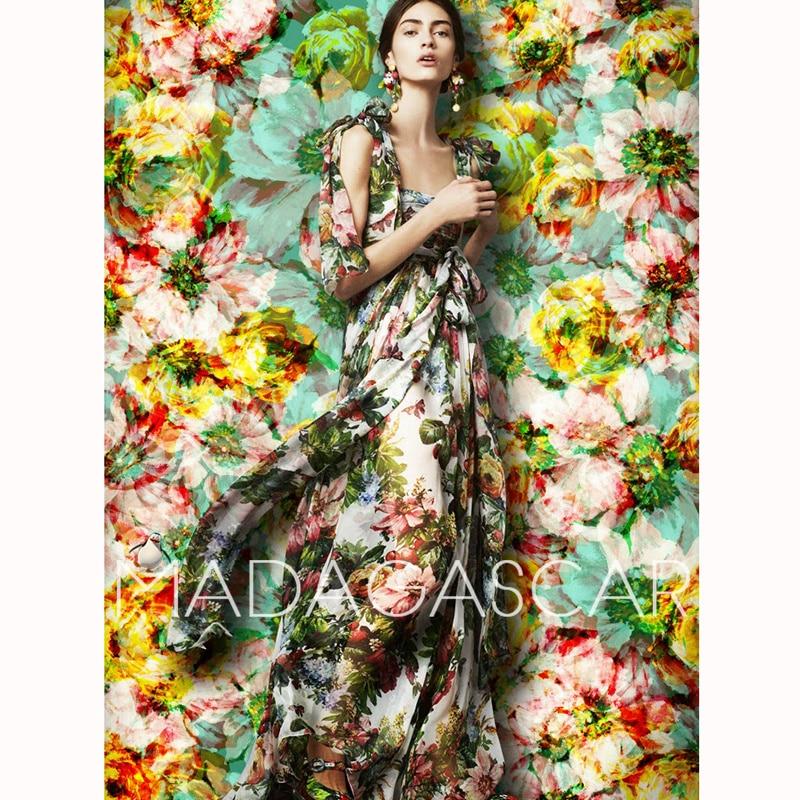 Floral Femmes L'épaule Style Boho De Vintage Maxi D'été Robe Soie Longue En Plage Robes Imprimé xqAxZwvr