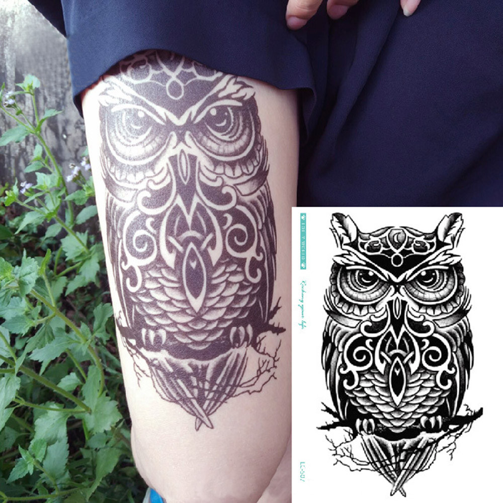 Environmental Waterproof Anti Perspiration flash glitte Tattoo stickers body art for men translated tattoo sleeve ol 9535 sbфигура мал сова писатель sealmark