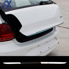 AX Achter Deur cover Kofferbak Achterklep Trim Sticker Voor VW POLO hatchback 2011-2016 2017 Chrome Moulding Gate Accent Styling Strip(China)
