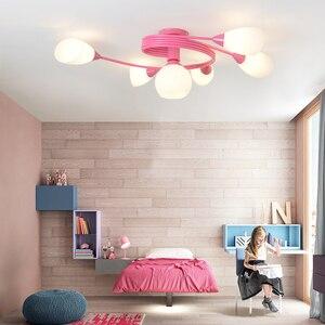 Image 4 - Artpad Moderne Led Kroonluchter Plafondlamp Indoor Verlichten Verlichting Amerikaanse Led Woonkamer Slaapkamer Childern Plafond Verlichting