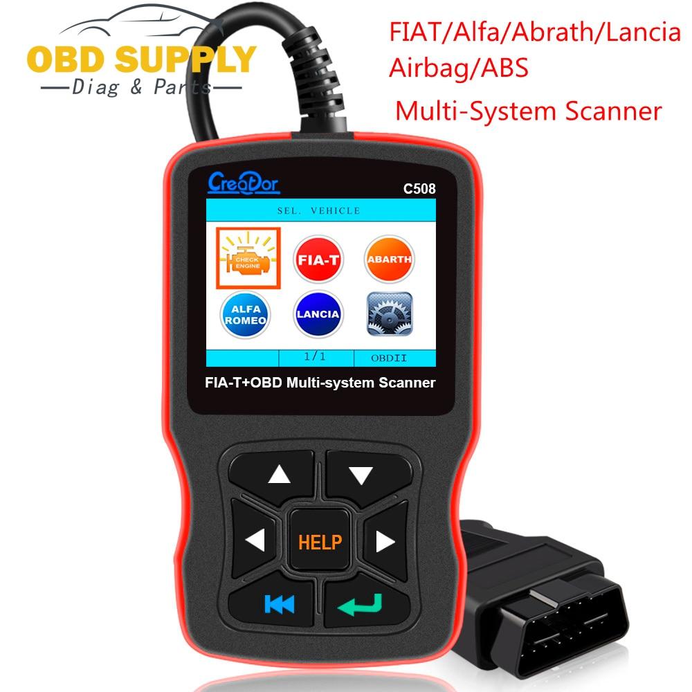 New OBD 2 Auto Scanner Diagnostic Tool Creator C508 OBDII/EOBD Scanner Airbag/ABS Diagnostic Car