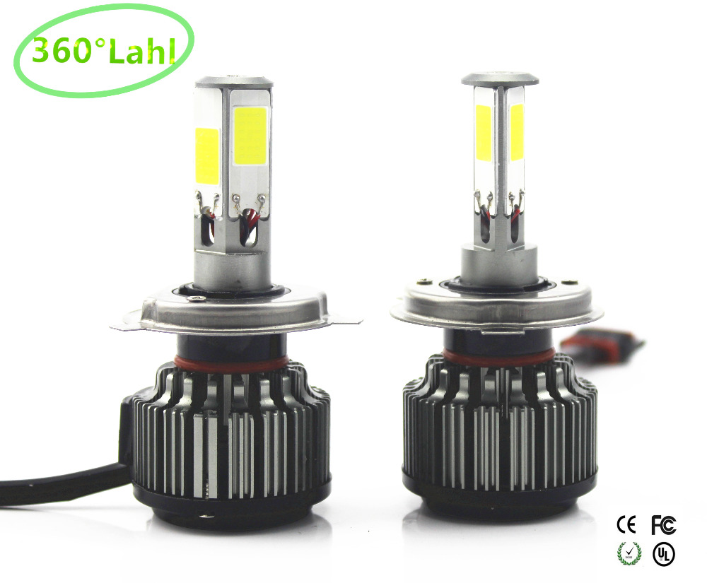 360lahl 4 chips 84W 12000lm Car Headlights H4 LED H7 H13 9004 9007 H11 9005 9006 CAR LED HEADLIGHT FOG Front Bulb Automobiles 12v led light auto headlamp h1 h3 h7 9005 9004 9007 h4 h15 car led headlight bulb 30w high single dual beam white light