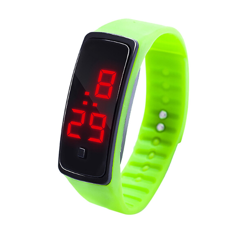 Simple Men Watch LED Digital Display Bracelet Watch Children's Students Silica Gel Sports Watch Clock relojes hombre Y09#N (12)