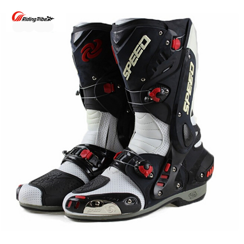 Split męskie buty motocyklowe buty wyścigowe Racing Speed motocykl buty bota motocross Boot mężczyźni motor terenowy jazda na rowerze łodzie motorowe