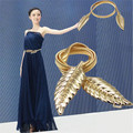 Новые Модные Женщины Металлические Листья Эластичный Пояс Платье Пояса Ремень Пояс Продвижение, Праздник, Свадьба Платье Аксессуары