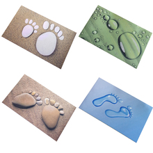 4 Styles Plastic Printing Doormat 40*60cm Super Comfortable Cute Foot Printed Rug Carpet for kitchen Door Slip-resistant Mats