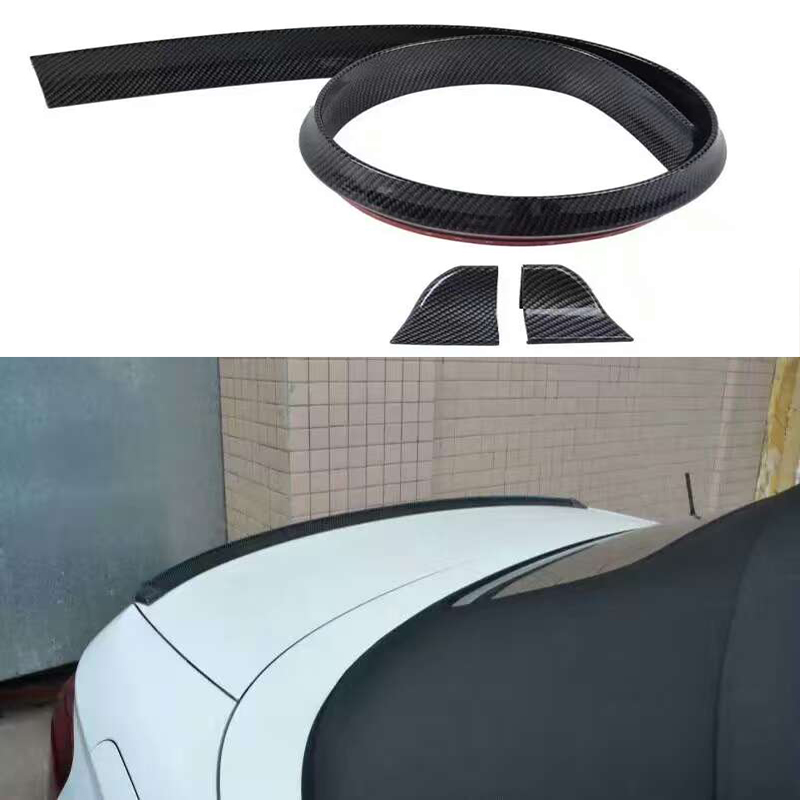 Rubber Carbon Fiber Rear Trunk Spoiler or Roof Wing Trim 1.5 Meters for Volkswagen VW Passat CC Jetta Phaeton Sedan(China)