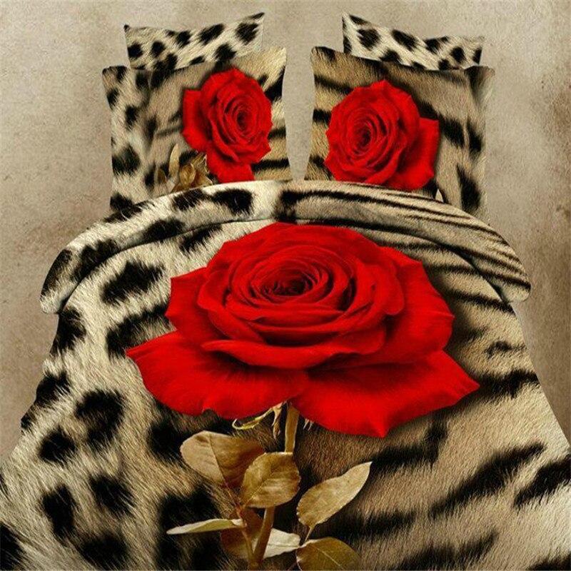 Lifeng maison roi taille 3d ensembles de literie fleur linge de lit literie coton ensemble plat drap literie housse de couette 3d couverture de lit textile