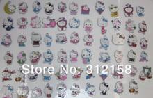 S4587366! Wholesale 100Pcs/Lots DIY Alloy Enamel mixed hello kitty Charms Metal Charms