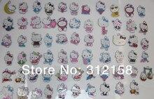 S4587366! großhandel 100 Teile/lose DIY Legierung Emaille gemischte hallo kitty Charme Metall Charme