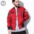 La nueva calle piloto traje de chaqueta de Algodón capa de los hombres