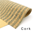Cork fabric 65*50cm/25.5*19.6inch stripe Natural cork leather natural Material Kork Cor-55