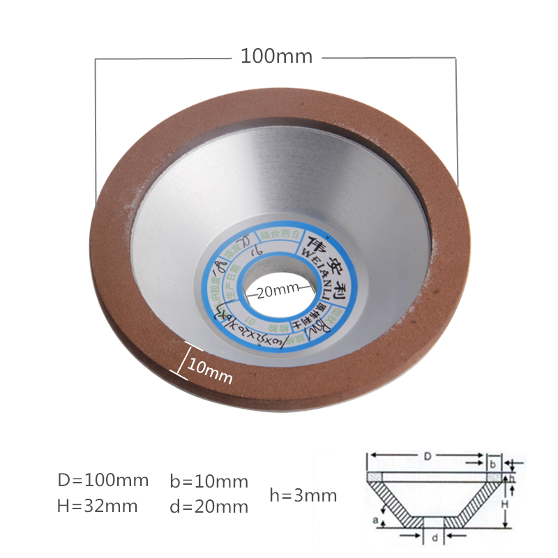 100mm Diamond Grinding Wheel Cup 150/180/240/320 Grain Cutting Saw Blade Disc Grinding Wheels Rotary Abrasive Tools  цены