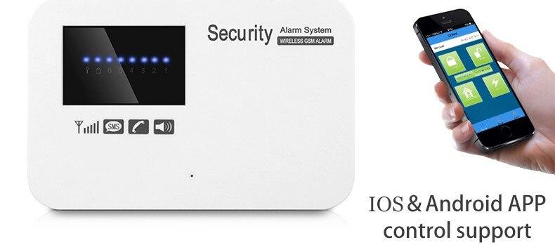 Alarm System Kits Yobang Sicherheit Wifi Sms Gsm Alarm System App Fernbedienung Lcd Display Home Security Drahtlose Tür Sensor Stimme Schnelle Alarm Sicherheitsalarm