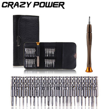 CRAZY POWER 1 Set 25 in 1 Torx Precision Screwdriver Repair Tool Set For iPhone Cellphone Tablet PC Hand Tools Accessories