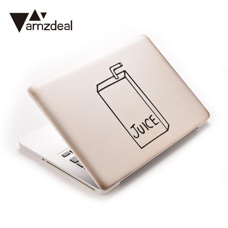 amzdeal General Black PVC Decoration Decal Sticker For MacBook JUICE Light Bulb Laptop laptop Art Decal Mural