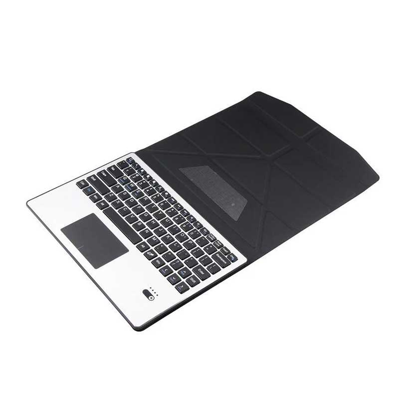Aluminum Wireless Bluetooth Keyboard Case Cover Touchpad For Samsung Galaxy Tab 2 3 4 10.1