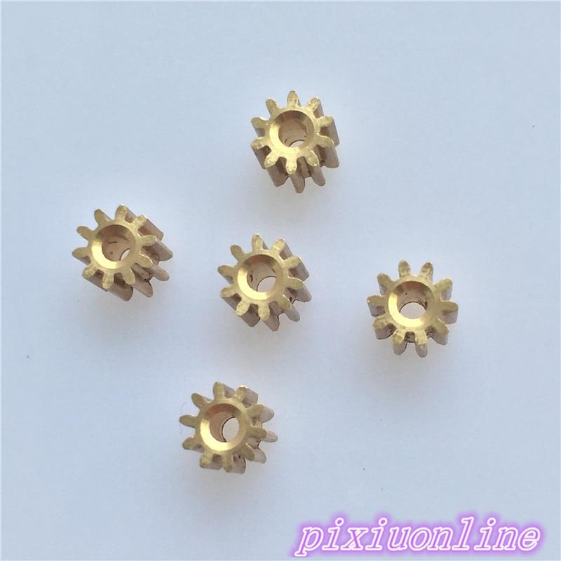5pcs K091Y Wear-resisting Copper Gear For Micro DC Motor Inside Diameter 2mm DIY Model Car Plane  High Quality On Sale