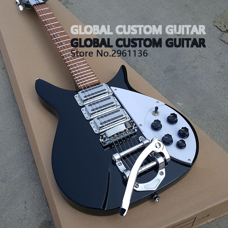 High quality Three pickup rickenbacker electric guitar,Real photos,free shipping Promotional activities 2016 shanghai guitar show new body acrylic guitar real guitar photos free shipping