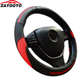 New Breathable Steering Wheel Cover Splicing Cow Leather Steering-wheel Cover Car Accessories