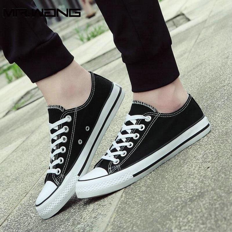 Laki-laki merek kanvas sepatu kasual sepatu flat sepatu olahraga - Sepatu Pria - Foto 5