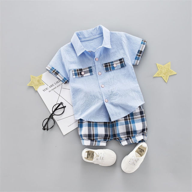 Baby Boys Summer Clothing Sets One Year Old Birthday Outfit Two Piece Set Kids Clothes Suit Boy Shirts Shorts Pants