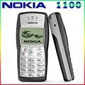 Más barato original nokia 1100 mobile teléfono desbloqueado gsm900/1800 mhz teléfono móvil con múltiples idiomas garantía de 1 año envío gratis