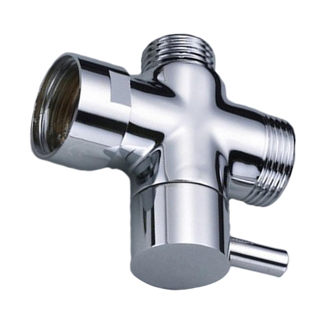 Water Separator Shower Tee Adapter Adjustable Shower Head Diverter Valve 3 Way Plastic   Diverter Valve Bathroom Accessories