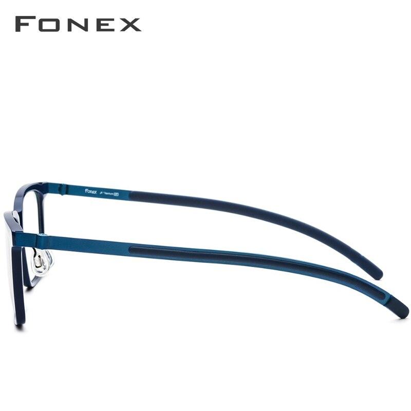 B pur titane lunettes cadre hommes acétate 2018 nouvelle haute qualité carré myopie optique Prescription lunettes sans vis lunettes - 4