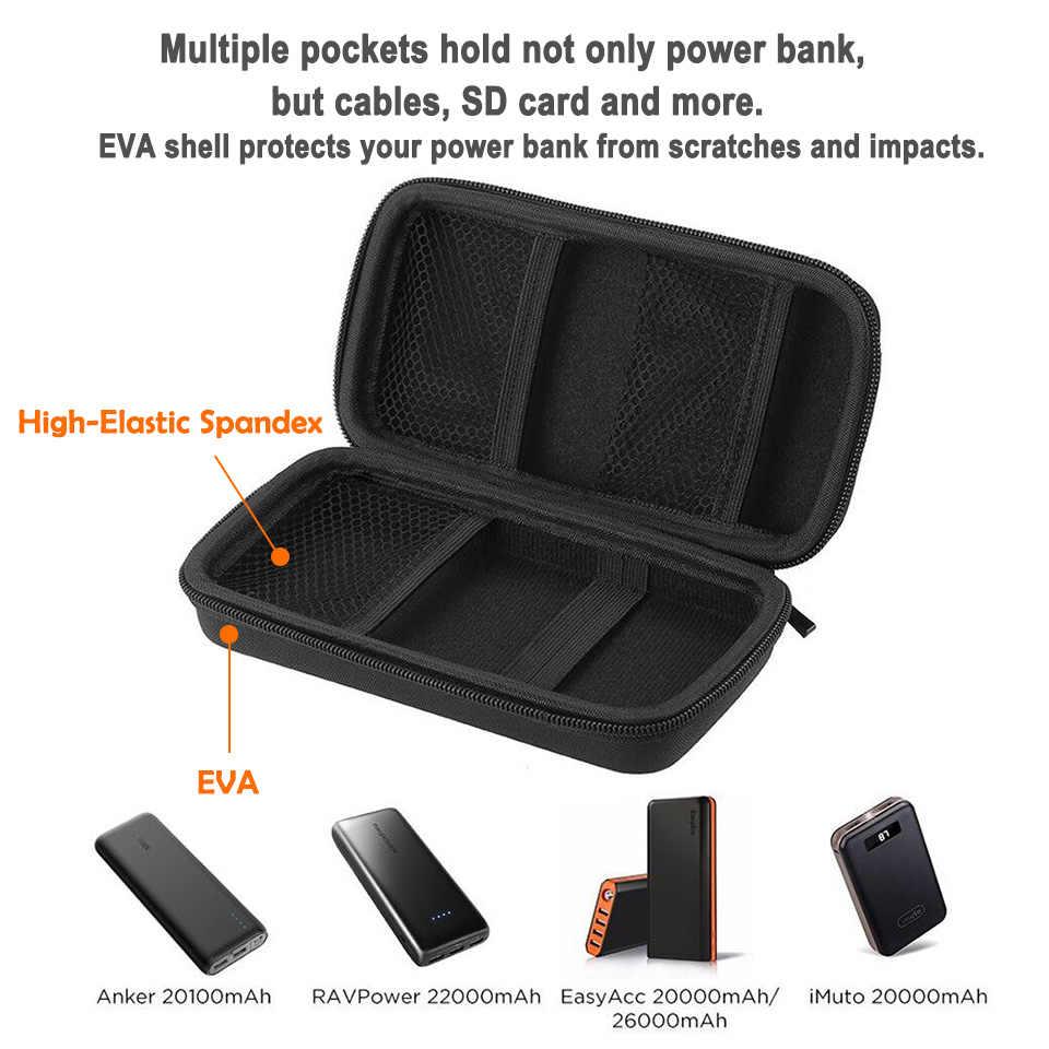 EasyAcc 20000 mAh 26000 mAh Ngân Hàng Điện Bag đối với Anker Aukey ROMOSS ROCK PISEN10000mAh Trường Hợp Pin Bên Ngoài Du Lịch Pounch