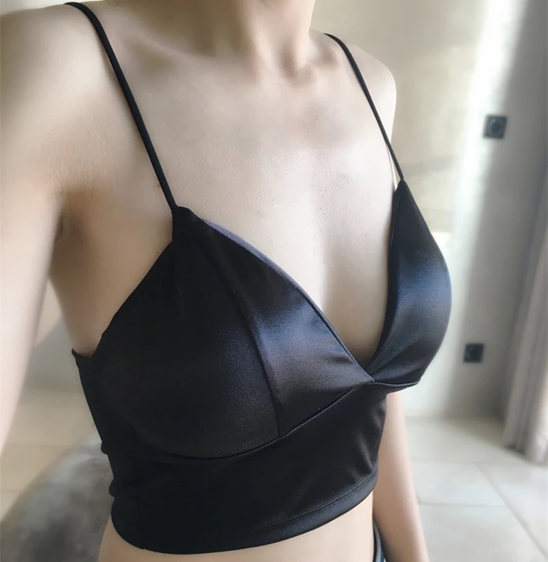 HTB1UxtsQVXXXXcOXVXXq6xXFXXXp - FREE SHIPPING Women Crop Tops  Strappy Unlined Lingerie Bra Tops Black White JKP248