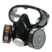 NEW Respirator Gas Mask Safety Chemical Anti Dust Filter Military Eye Goggle Set Workplace Safety Protection