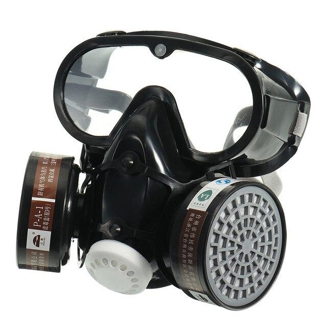 NOVO Respirador Máscara de Gás Químico Anti-Poeira do Filtro de Segurança  Militar Conjunto de b7bf70b51b