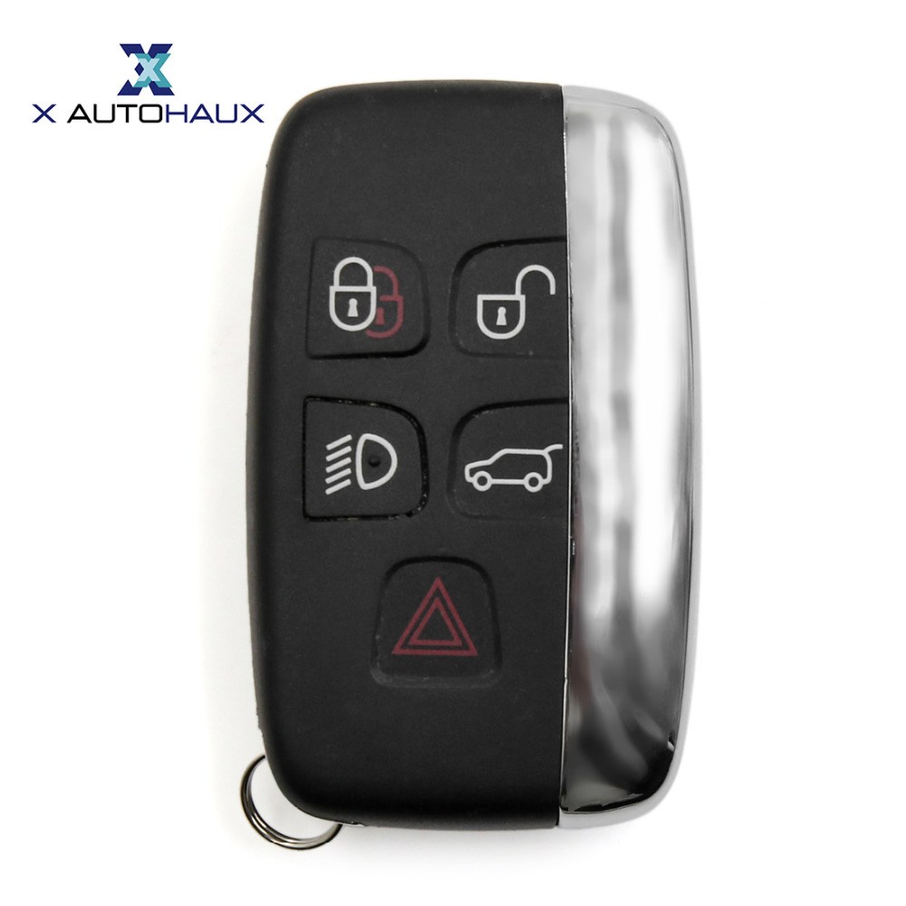 X AUTOHAUX 5 Button Key KOBJTF10A Remote Case Shell Replacement For Range Rover Discovery 4