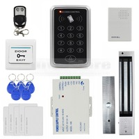 DIYSECUR Volledige Complete Rfid-kaart Toetsenbord Deur Access Control System Kit 280 KG Magnetische Lock voor Home Improvement