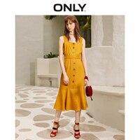 ONLY 2019 Spring Summer New Slim Fit Slip Dress |119107636