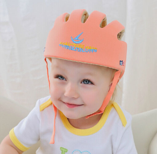 Free Shipping!Baby Safety Helmet Toddler Cap Baby Anti- Shock Hat Infant Protective Hat For Learning Walk & Size Adjustable  противоскользящие полоски safety walk цвет серый 6 шт