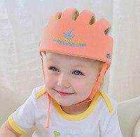 Frete Grátis! Capacete de Segurança Do Bebê Da Criança Cap Bebê Chapéu Infantil Chapéu de Proteção Anti-Choque Para Aprender Caminhada & tamanho Ajustável