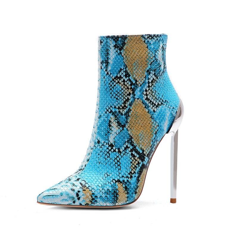 Ciel Bottes Automne Femmes Martin Pu De Talons pourpre Serpent Cocoafoal Bottines Métal En Hauts Femme Décoration Chaussures Chelsea RAgx1wq